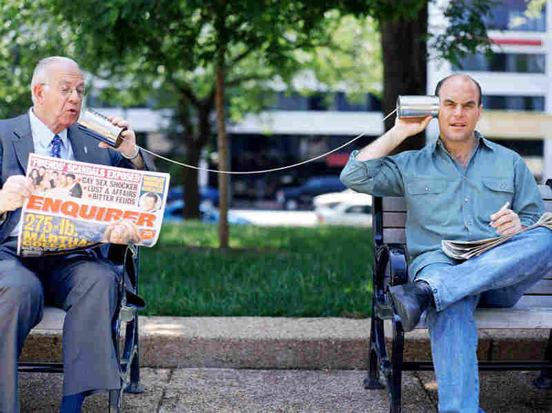 Sorry Brad and Ryan, but the Wait Wait hosting gigs are already taken by Carl Kasell and Peter Sagal (l-r).