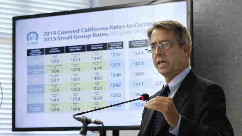 Peter Lee, executive director of Covered California, the state agency running the state's new health exchange, announced the plans and prices that will be offered by private insurers on May 23.
