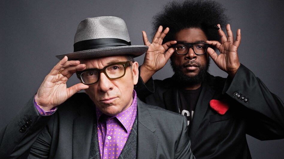 Elvis Costello and ?uestlove of The Roots. (Courtesy of the artist)