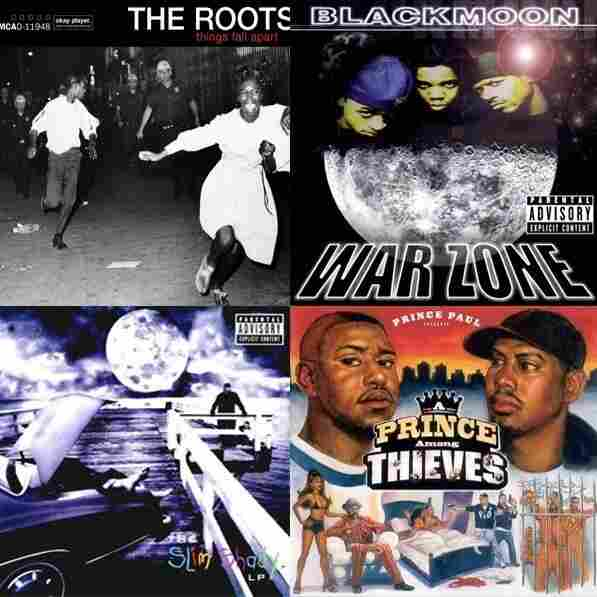 Prince Paul, A Prince Among Thieves vs. Eminem, The Slim Shady LP vs. Black Moon, War Zone vs. The Roots, Things Fall Apart