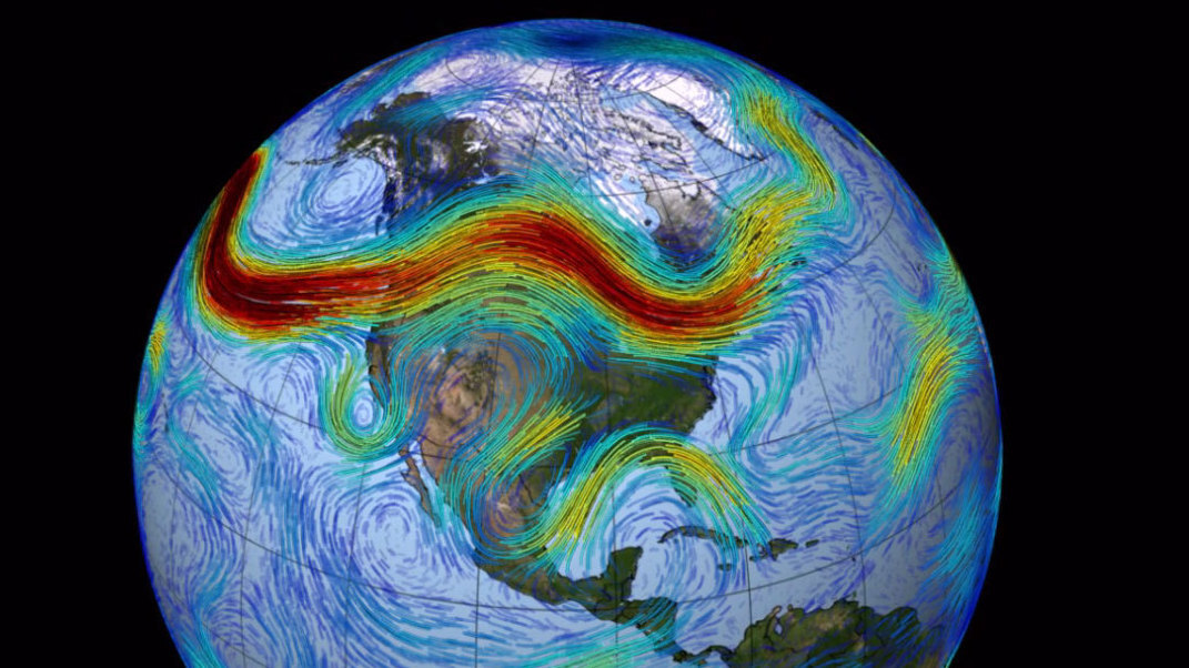 jet streams What are jet streams  jet stream, narrow, swift currents or tubes of air found at heights ranging from 7 to 8 mi (113–129 km) above the surface of the earth.