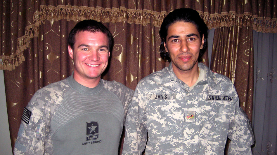 Army Capt. Matt Zeller (left) credits his interpreter, Janis Shinwari, with saving his life during a firefight. Zeller has made it his mission to help Shinwari get a visa to the United States for the risks he took to aid U.S. forces.