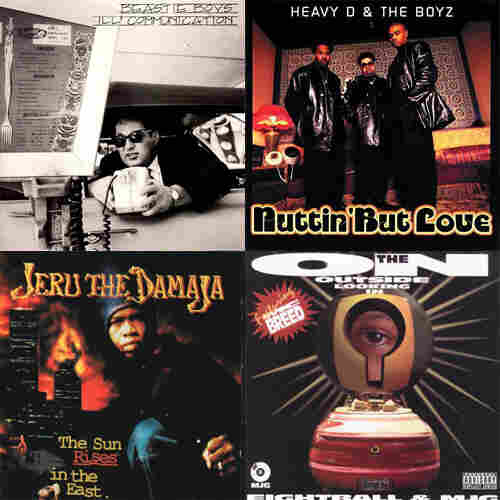 Beastie Boys, Ill Communication vs. Heavy D & The Boyz, Nuttin' But Love vs. Jeru the Damaja, The Sun Rises In The East vs. 8Ball & MJG, On the Outside Looking In
