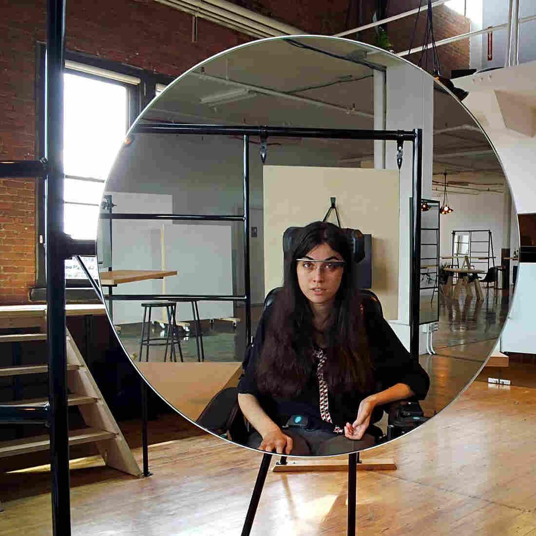 Alex Blaszczuk used Google Glass to shoot this self portait.