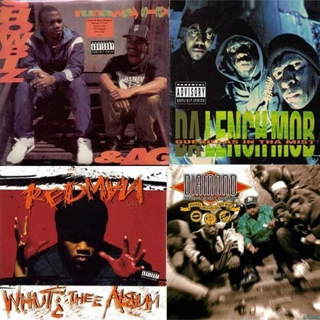 Da Lench Mob, Guerillas In Tha Mist vs. Showbiz & AG, Runaway Slave vs. Diamond, Stunts, Blunts & Hip Hop vs. Redman, Whut? Thee Album