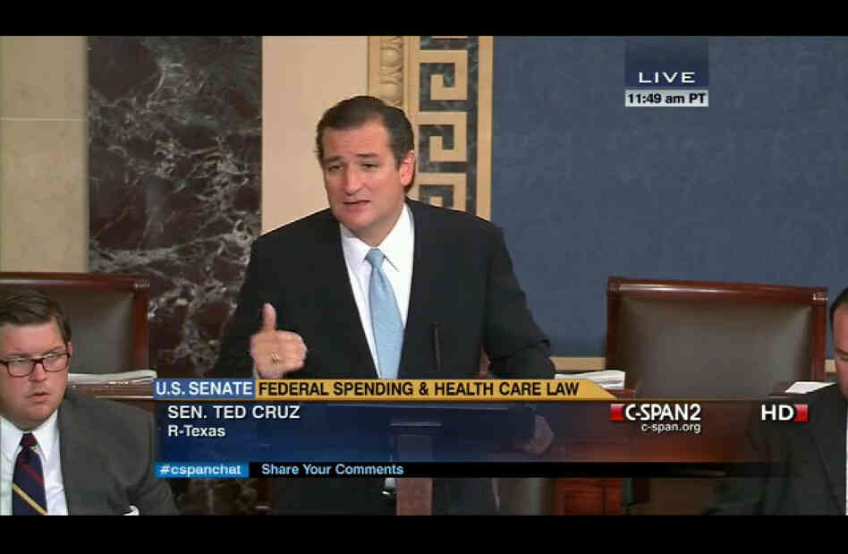 Sen. Ted Cruz's anti-Obamacare strategy seemed to fall flat Tuesday with many of his fellow Senate Republicans.