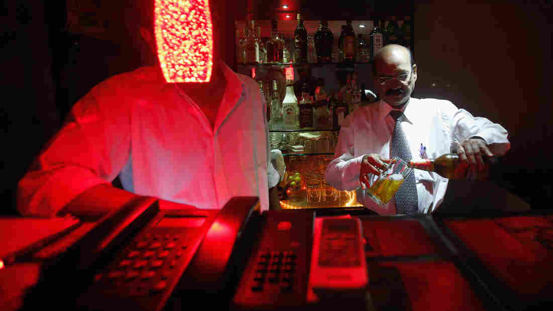A bartender pours Haywards 5000 strong beer into a glass at a restaurant in Mumbai. Strong beer, with alcohol content of 5 to 8 percent, accounted for 83 percent of all beer sold in India last year, according to research firm Mintel.