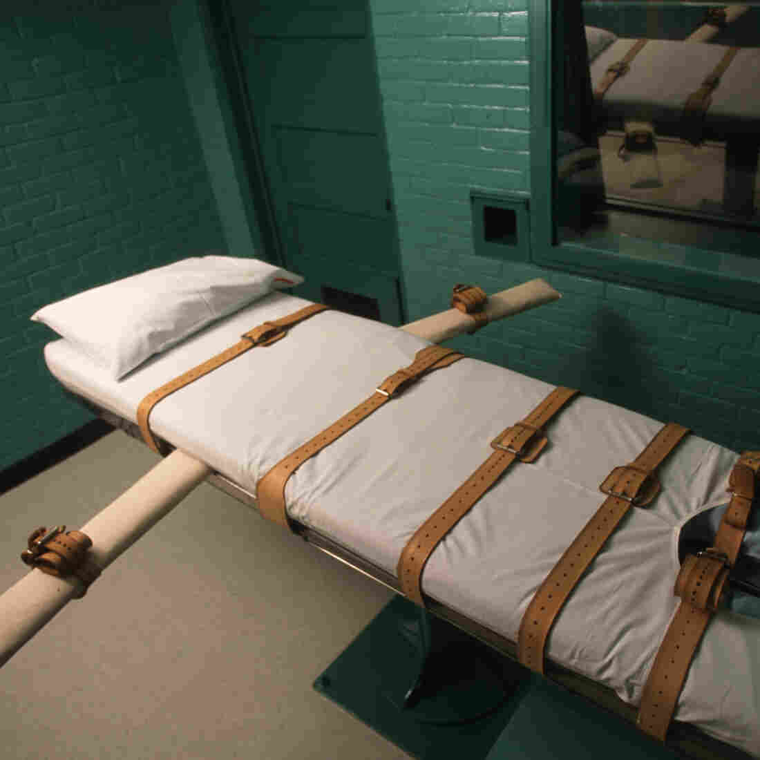 The Texas death chamber in Huntsville, Texas, where death-row inmates receive lethal injections.
