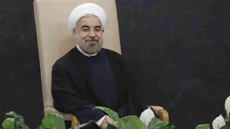 Much To Smile About? Iranian President Hasan Rouhani prepares to address the 68th session of the U.N. General Assembly on Tuesday.