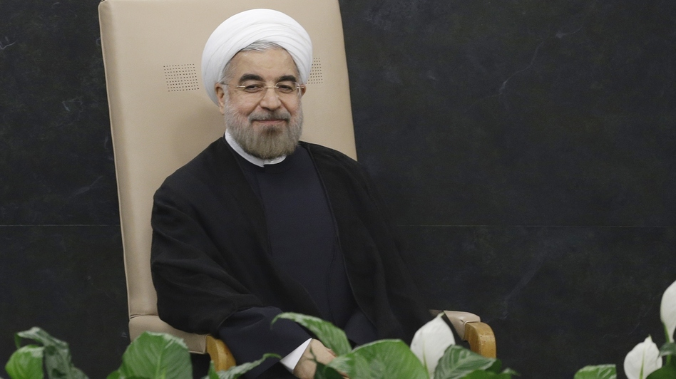 Much To Smile About? Iranian President Hasan Rouhani prepares to address the 68th session of the U.N. General Assembly on Tuesday. (AP)