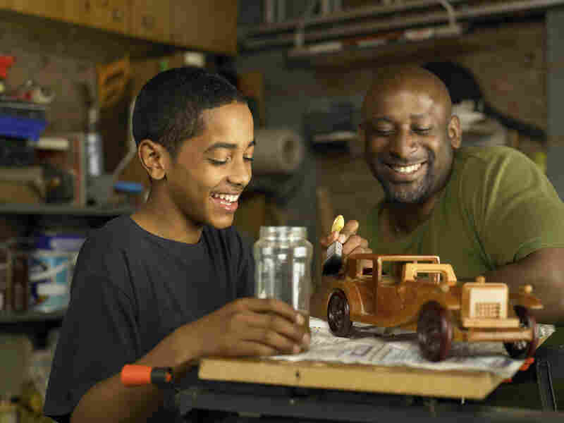 """Nice job on the model car, son. But remember it has to be twice as good. Start over."""