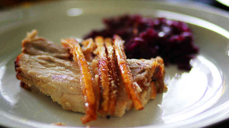 A traditional Danish pork roast, common for Christmas dinner in Denmark. Pork finds its way into most Danish meals.
