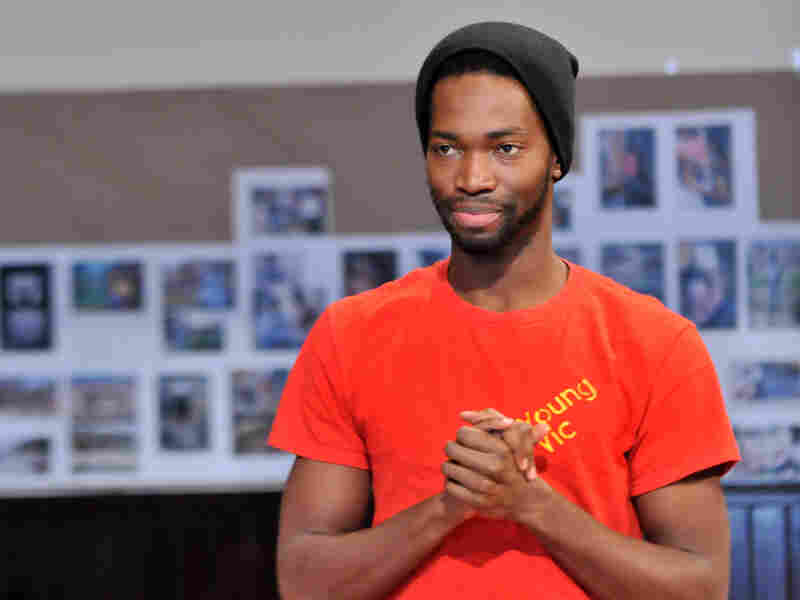 McCraney in rehearsal for The Brother/Sister Plays at Chicago's Steppenwolf Theatre, where he's a member of the ensemble.