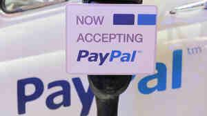 An illustration of online payment service PayPal at LeWeb Paris 2012 in Saint-Denis, France.