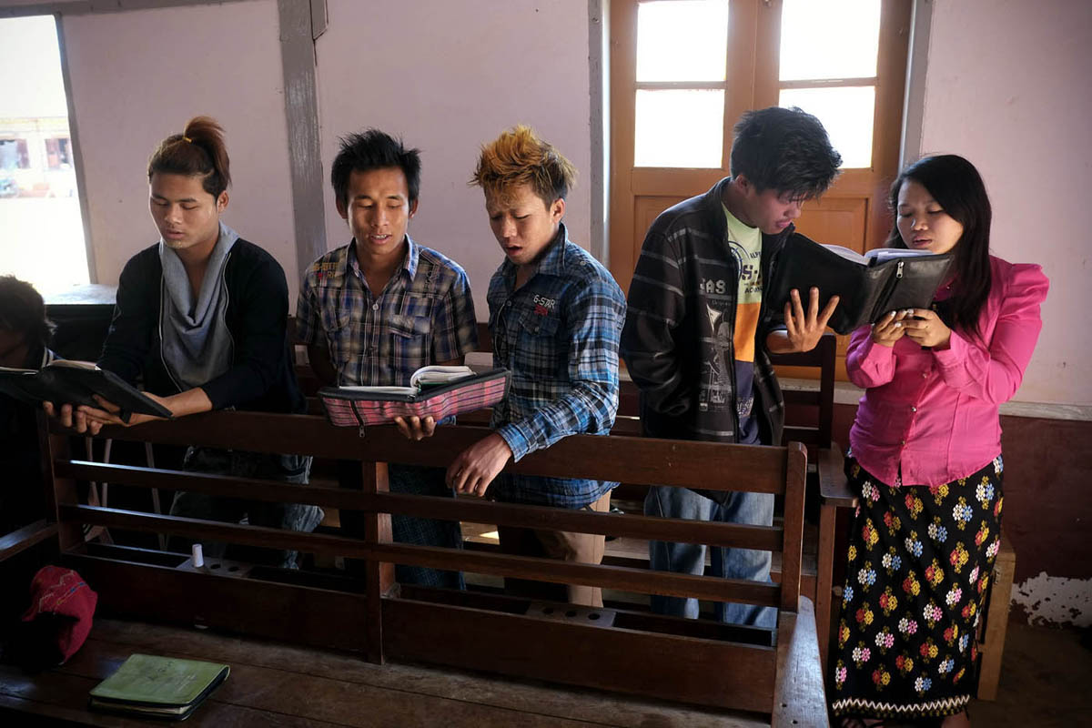 Kachin church service, Lashio, 2013