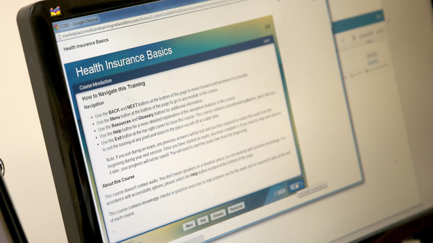 "An online course for Affordable Care Act ""navigators"" in Florida. (Getty Images)"