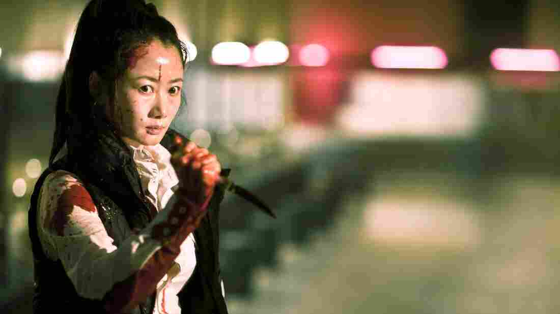 In one of the four intertwining storylines of the brutal Chinese drama A Touch of Sin, a young receptionist (Zhao Tao) must resort to violence to defend herself.