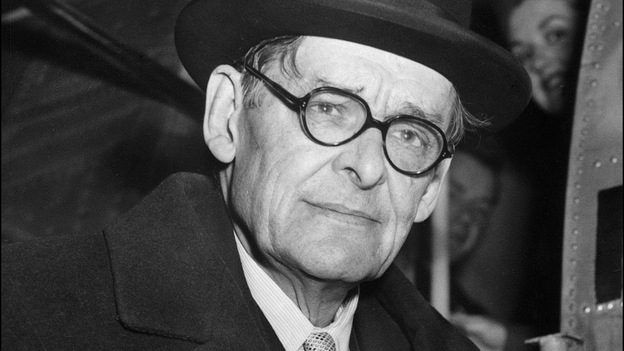 American-born British poet and playwright T.S. Eliot received the Nobel Prize in Literature in 1948. (AFP/Getty Images)