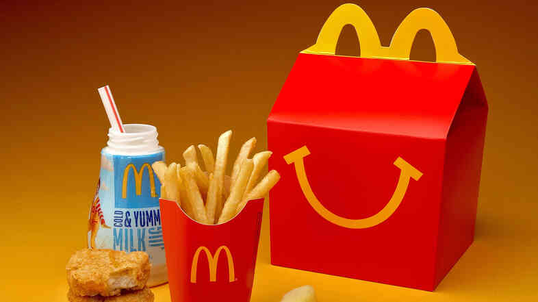 Goodbye, Sodas. McDonald's says it will now market and promote Happy Meals only with milk, water or juice.