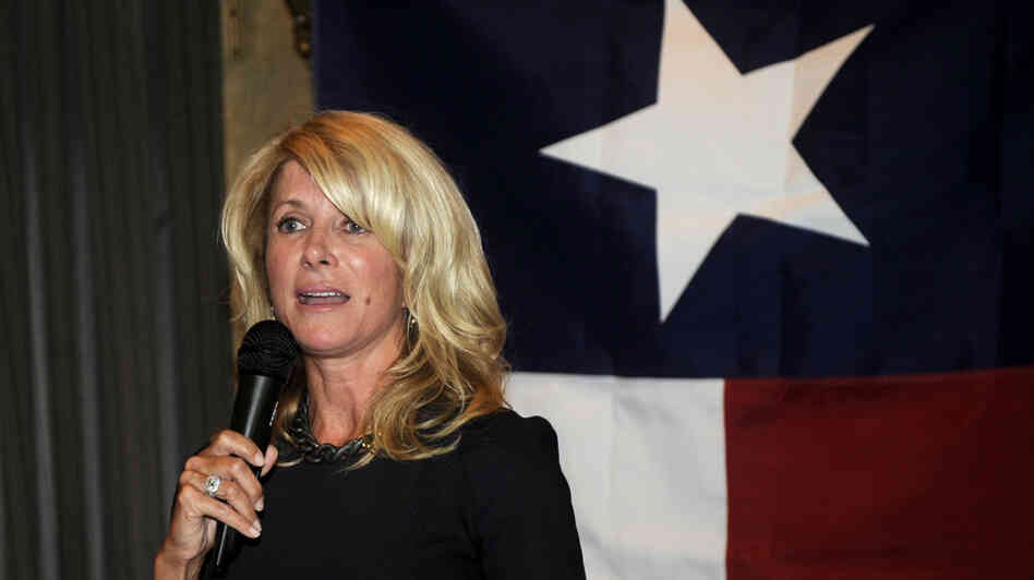 Texas state Sen. Wendy Davis speaks at a fundraiser on July 25 in Washington, D.C.