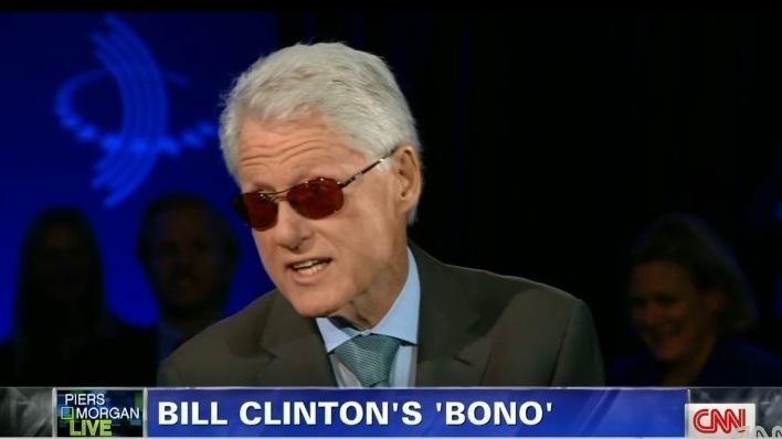 VIDEO: After Bono Imitates Bill (Clinton), Bill Does Bono