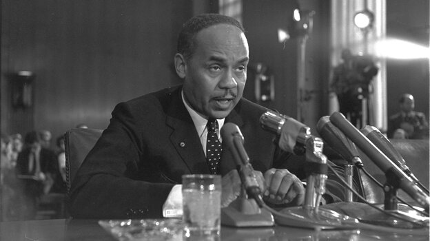 Ralph Ellison testified at a Senate Subcommittee hearing in 1966 on the racial problems in big cities.