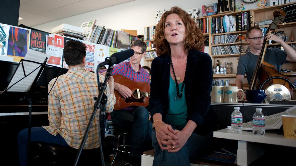 Hem performs a Tiny Desk Concert in June 2013. (NPR)