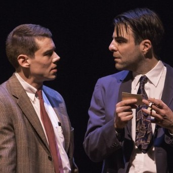 "While part of The Glass Menagerie is focused on Laura and her ""gentleman caller"" (Brian J. Smith, left), the director goes with a more modern interpretation of Tom (Zachary Quinto), portraying him as a closeted gay man."