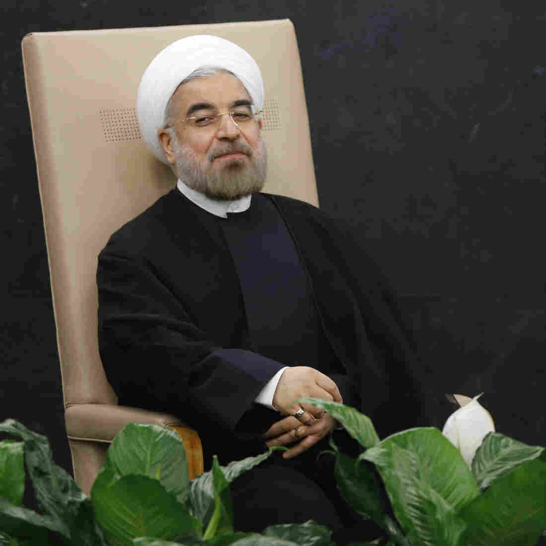 Iranian President Hassan Rouhani at the U.N. on Tuesday.