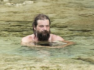 Rupert Boneham, seen without his tie-dye, on Survivor: Blood vs. Water.