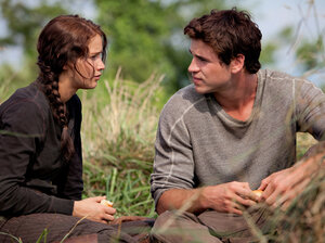 In The Hunger Games, Katniss and Gale, played by Jennifer Lawrence and Liam Hemsworth in the movie adaptation, become friends while they are both struggling to feed their impoverished families.