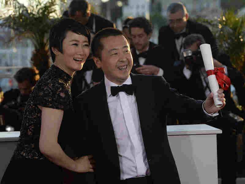 Jia with Zhao — his star, and his real-life wife — at the 66th Cannes Film Festival in May. The writer and director took home the prize for best screenplay.