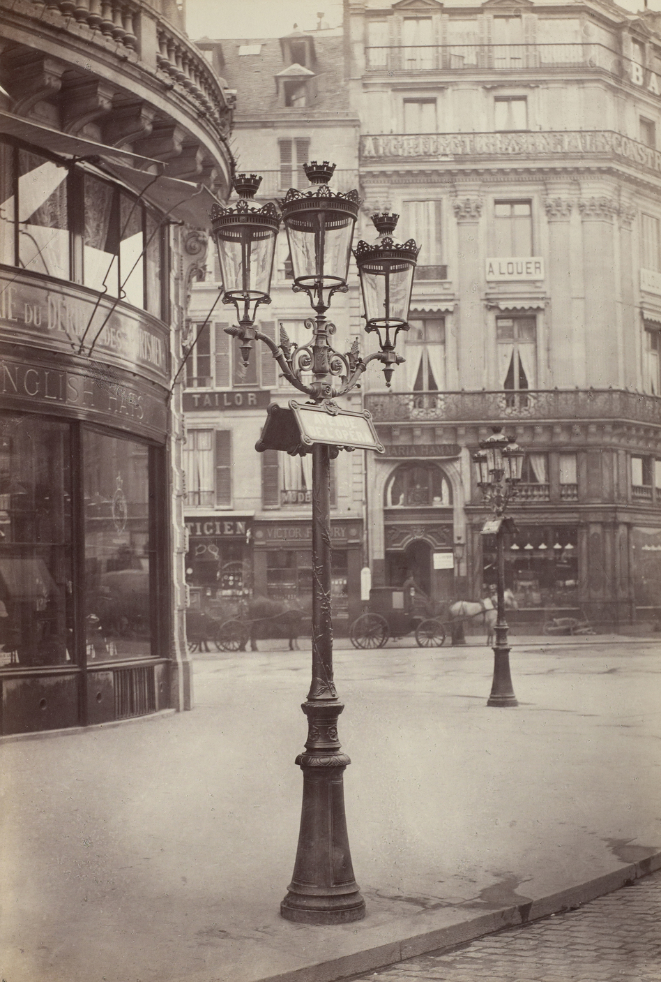 The elegant gas lamps of Paris' Haussmann transformation, seen here in 1877-1878, also contributed to its reputation as a modern metropolis. (The Troob Family Foundation Images/Sterling and Francine Clark Art Institute)