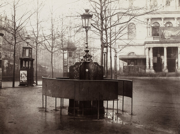 Paris' public urinals, seen here in an 1876 photograph by Charles Marville, helped cement its reputation as the most modern city in the world.