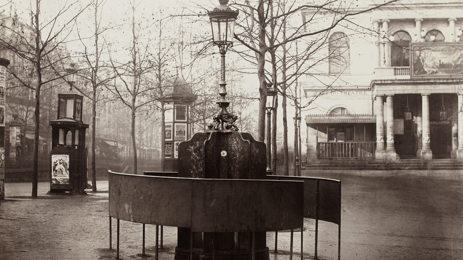 Paris' public urinals, seen here in an 1876 photograph by Charles Marville, helped cement its reputation as the most modern city in the world. (Musee Carnavalet/Roger-Viollet)