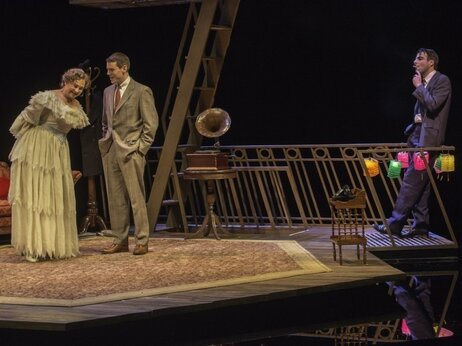 """In the play Amanda (Jones), is devoted to finding a """"gentleman caller"""" for her daughter and so Tom (Quinto) brings one home (Smith)."""