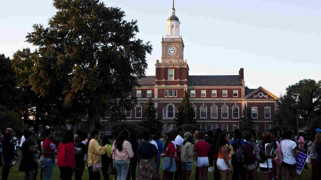 Students and alumni line up at Howard University in Washington, D.C., before August's commemoration of the 50th anniversary of the March on Washington.