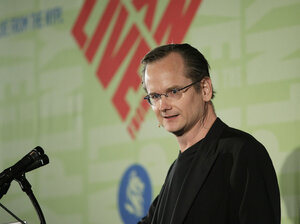 Law professor Lawrence Lessig, shown here in 2009, is suing an Australian record label for threatening to sue him over an alleged YouTube copyright violation.