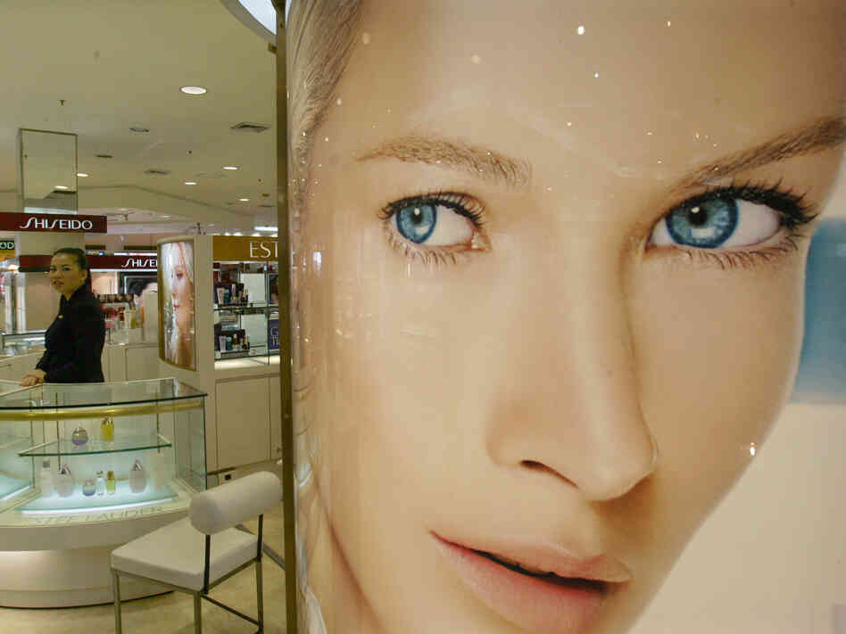 The cosmetics department at a Bangkok sto