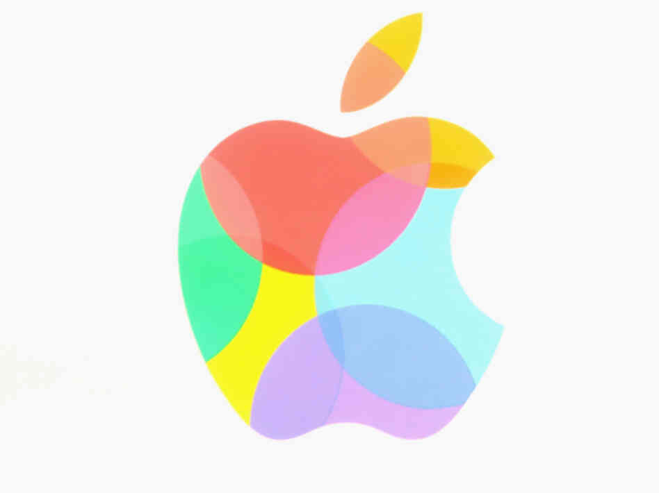 The Apple logo.