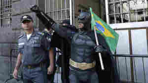 Holy Smokes, Batman, You're Protesting In Brazil!