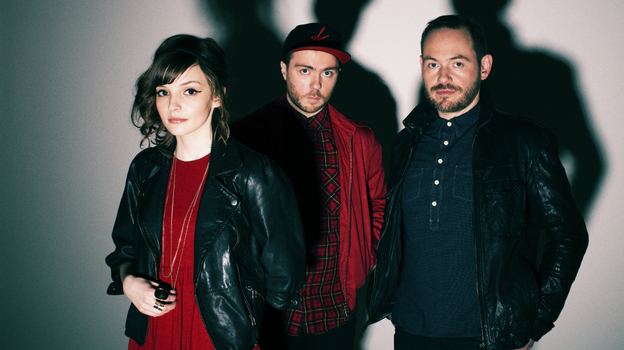 The electronic band Chvrches comprises Lauren Mayberry, Martin Doherty (center) and Iain Cook. (Courtesy of the artist)