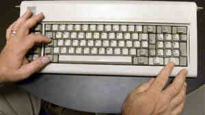 Those are the hands of David Bradley, an original member of the IBM PC team and the inventor of the control-alt-delete function, hitting the right keys.