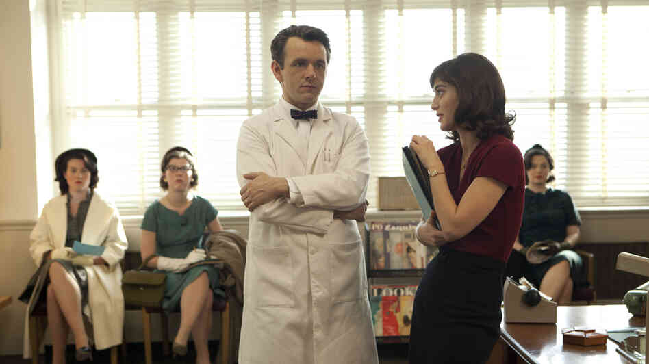 Michael Sheen and Lizzy Caplan play famous sex researchers William Masters and Virginia Johnson in a new series, Masters of Sex.