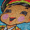 Children mobilized for the annual mass games in Pyongyang act as pixels, portraying a happy patriot in uniform.