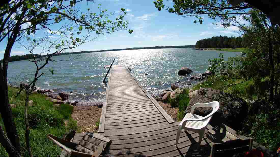 The view from a Finnish sauna shows the short-lived beauty of summers near the Arctic circle.