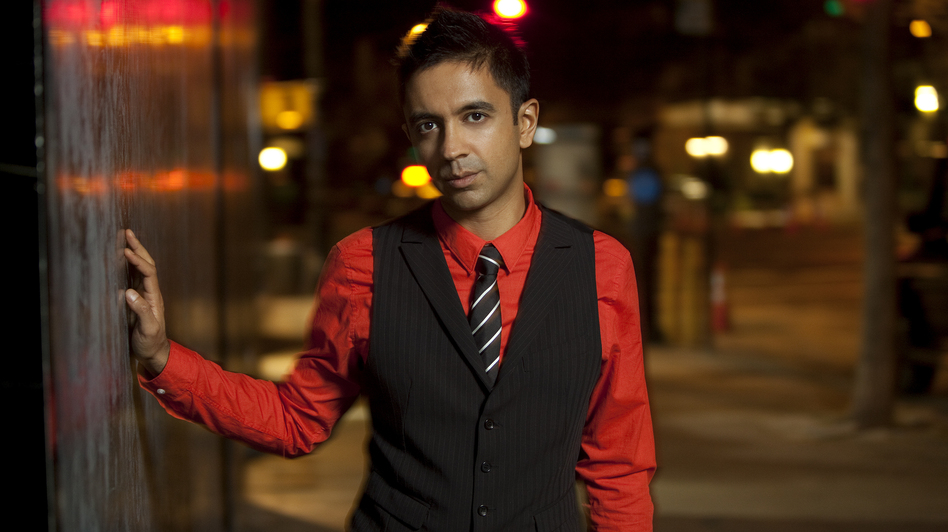For three years, jazz musician Vijay Iyer has worked with poet and performer Mike Ladd to set the words of war veterans to music. The resulting album, released earlier this month, is called Holding It Down: The Veterans' Dreams Project. (Courtesy of the artist)
