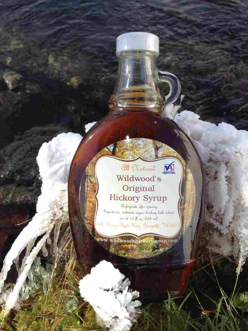 """Essence of hickory bark and simple syrup are used to make Wildwood's Original Hickory Syrup. Its maker, Travis Miller, describes the flavor as """"a little woodsy, with a smoky background."""""""
