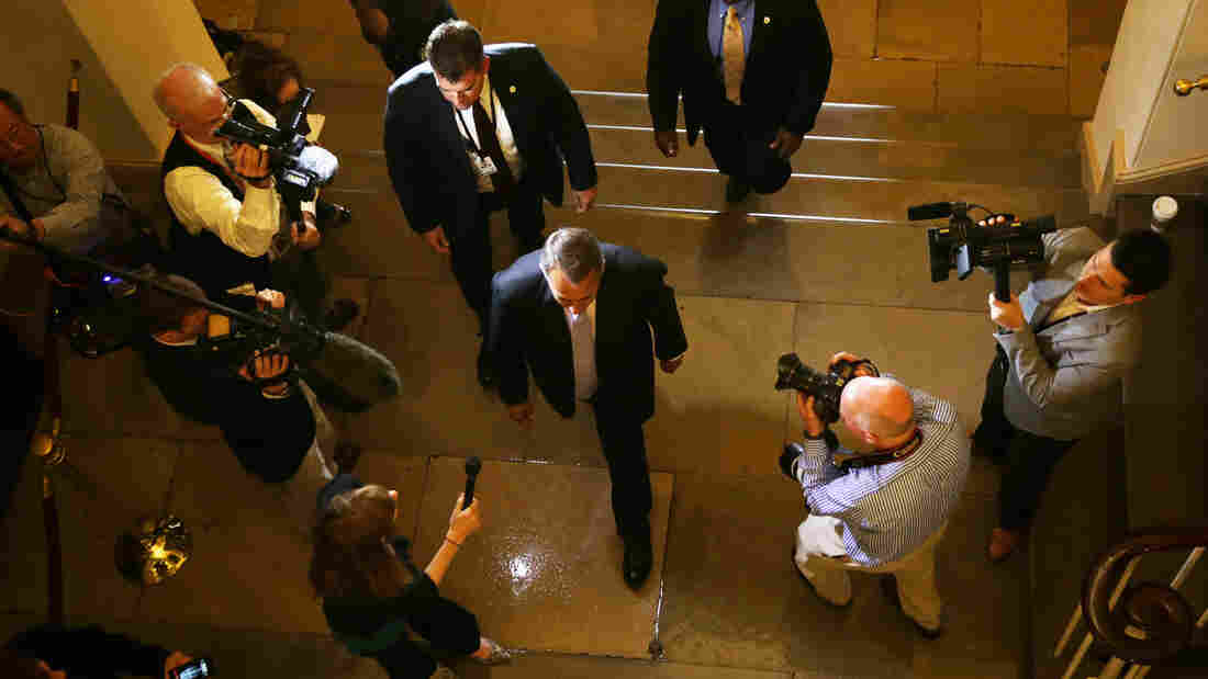 Speaker of the House John Boehner arrives at the Capitol on Saturday.