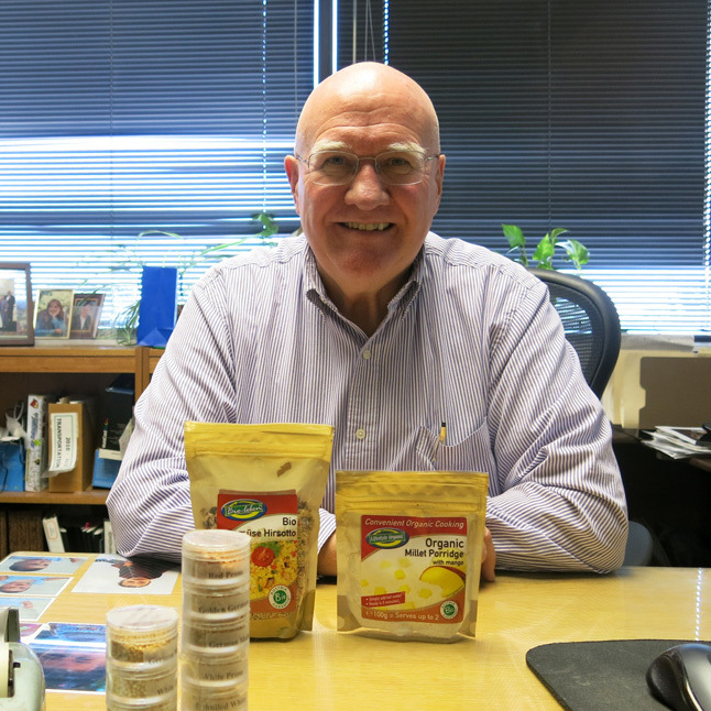 Tim Larsen, with the Colorado Department of Agriculture, is one of millet's staunchest backers.